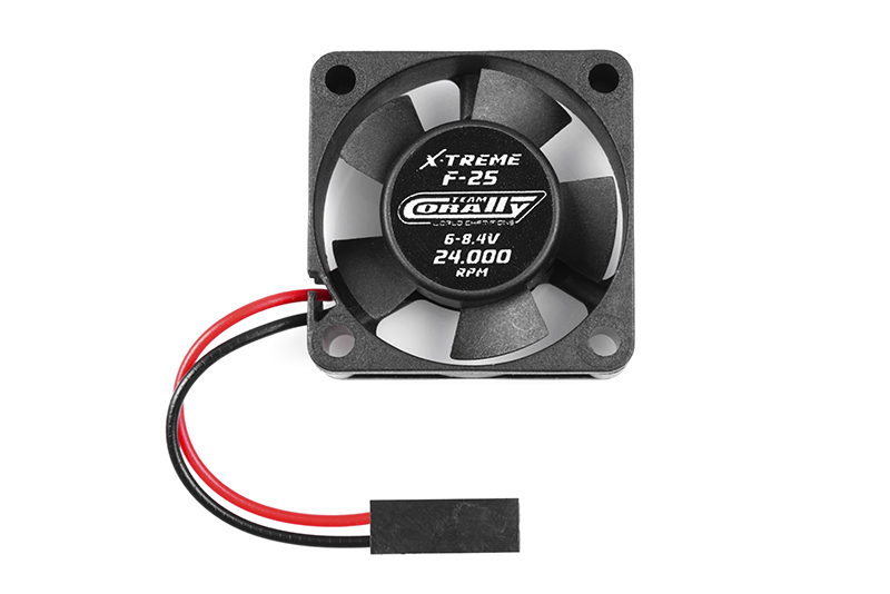 Team Corally - ESC Ultra High Speed Cooling Fan 30mm - 6v-8,4V - Dual ball bearings - Black connector