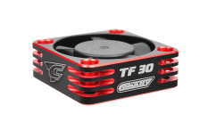 Team Corally - Ultra High Speed Cooling Fan TF-30 w/BEC connector - 30mm - Color Black - Red