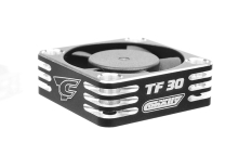 Team Corally - Ultra High Speed Cooling Fan TF-30 w/BEC connector - 30mm - Color Black - Silver