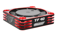 Team Corally - Ultra High Speed Cooling Fan TF-40 w/BEC connector - 40mm - Color Black - Red