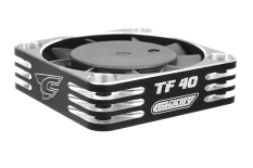 Team Corally - Ultra High Speed Cooling Fan TF-40 w/BEC connector - 40mm - Color Black - Silver
