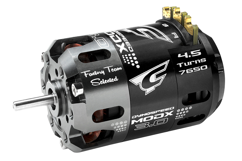 Team Corally - Dynospeed MODX 3.0 - 1/10 Sensored 2-Pole Competition Brushless Motor - Modified - 4.5 Turns - 7650 KV