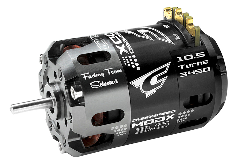 Team Corally - Dynospeed MODX 3.0 - 1/10 Sensored 2-Pole Competition Brushless Motor - Modified - 10.5 Turns - 3450 KV