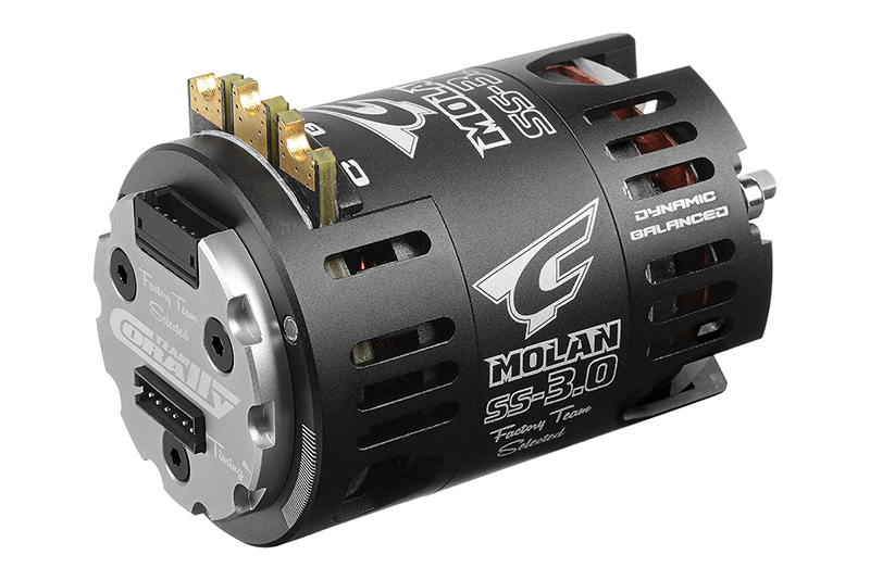 Team Corally - MOLAN SS-3.0 - 1/10 Sensored 2-Pole Competition Brushless Motor - Modified - 9.5 Turns - 3800 KV