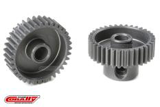 Team Corally - 64 DP Pinion - Short - Hard Anodised AL7075 - 35 Teeth - Shaft Dia. 3.17mm
