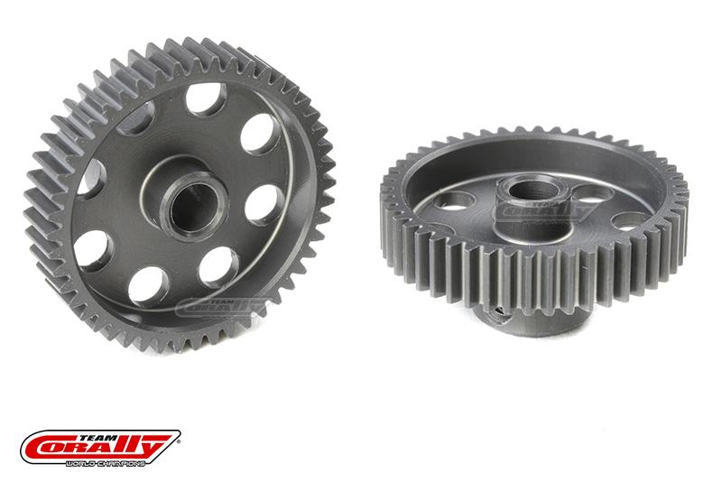 Team Corally - 64 DP Pinion - Short - Hard Anodised AL7075 - 48 Teeth - Shaft Dia. 3.17mm