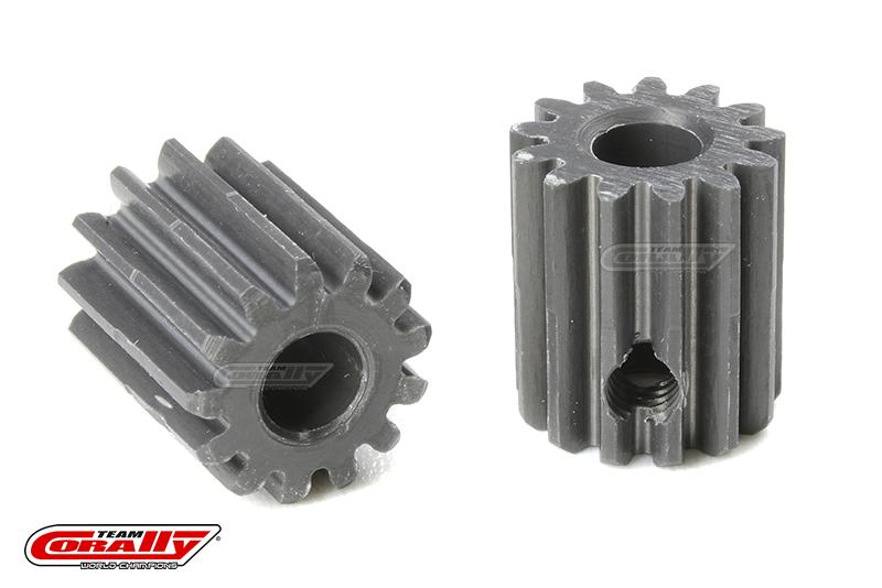 Team Corally - 48 DP Pinion - Short - Hard Anodised AL7075 - 13 Teeth - Shaft Dia. 3.17mm