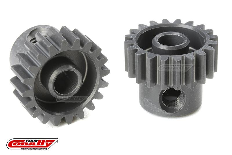 Team Corally - 48 DP Pinion - Short - Hard Anodised AL7075 - 20 Teeth - Shaft Dia. 3.17mm