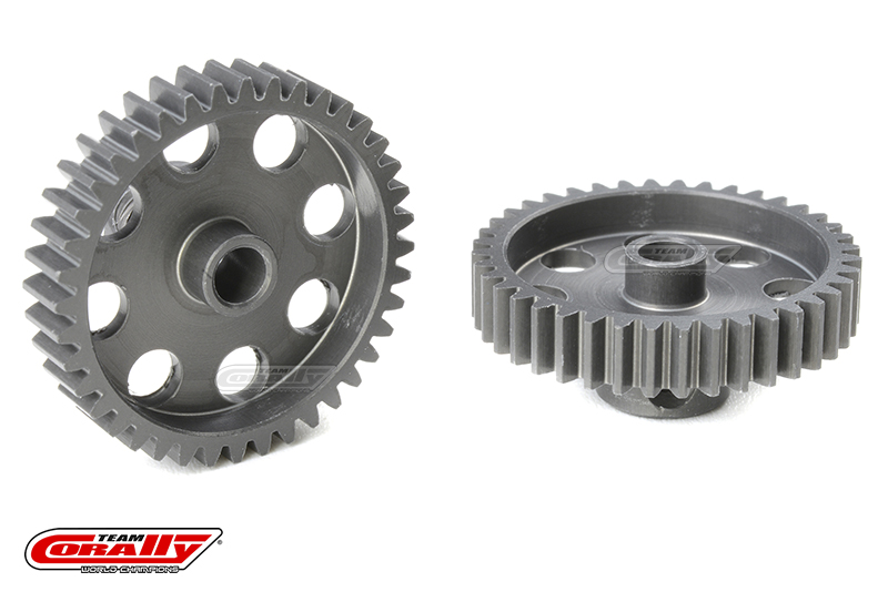 Team Corally - 48 DP Pinion - Short - Hard Anodised AL7075 - 40 Teeth - Shaft Dia. 3.17mm