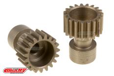 Team Corally - 48 DP Pinion - Long Boss - Hardened Steel - 19 Teeth  - ø3.17mm