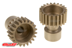 Team Corally - 48 DP Pinion - Long Boss - Hardened Steel - 21 Teeth  - ø3.17mm
