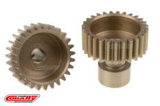 Team Corally - 48 DP Pinion - Long Boss - Hardened Steel - 27 Teeth  - ø3.17mm