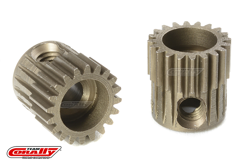 Team Corally - 64 DP Pinion - Short - Hardened Steel - 20 Teeth - Shaft Dia. 3.17mm