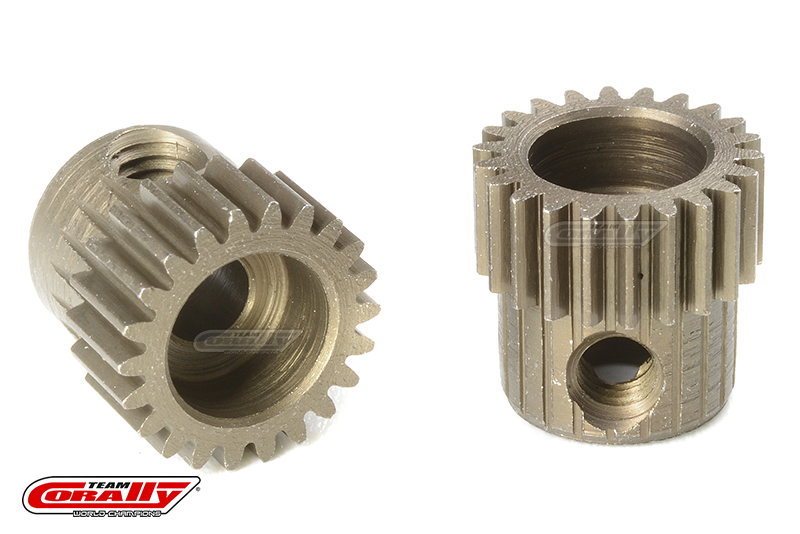 Team Corally - 64 DP Pinion - Short - Hardened Steel - 22 Teeth - Shaft Dia. 3.17mm