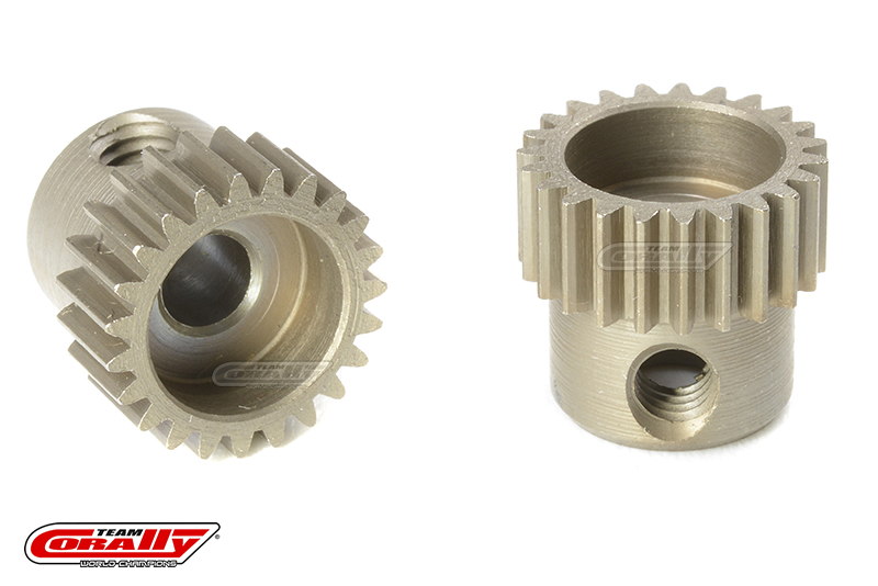 Team Corally - 64 DP Pinion - Short - Hardened Steel - 23 Teeth - Shaft Dia. 3.17mm