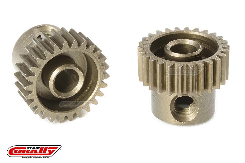 Team Corally - 64 DP Pinion - Short - Hardened Steel - 26 Teeth - Shaft Dia. 3.17mm