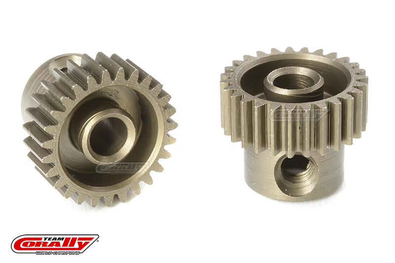 Team Corally - 64 DP Pinion - Short - Hardened Steel - 27 Teeth - Shaft Dia. 3.17mm
