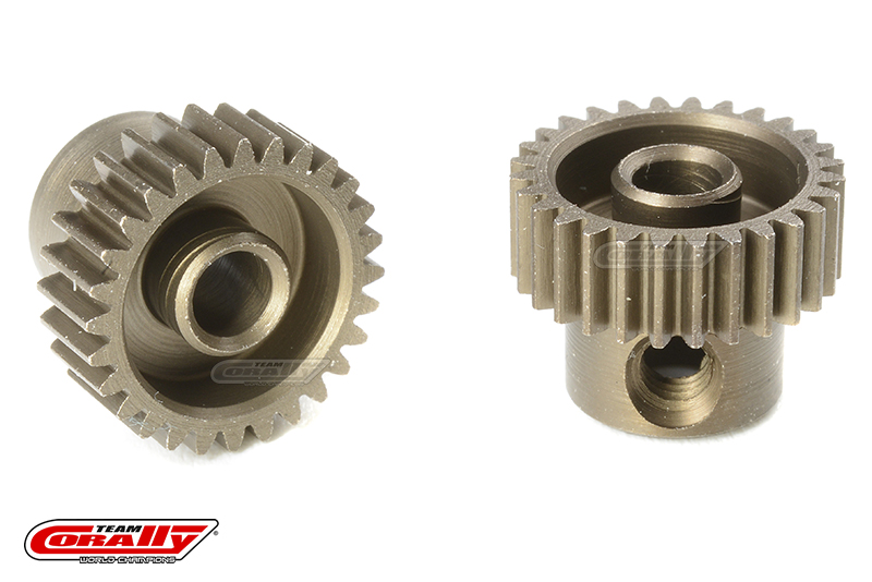 Team Corally - 64 DP Pinion - Short - Hardened Steel - 28 Teeth - Shaft Dia. 3.17mm