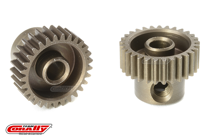 Team Corally - 64 DP Pinion - Short - Hardened Steel - 29 Teeth - Shaft Dia. 3.17mm