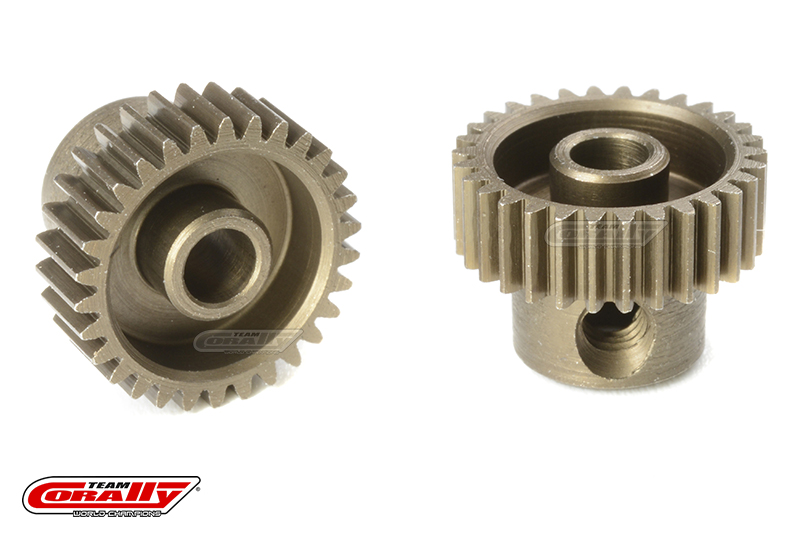 Team Corally - 64 DP Pinion - Short - Hardened Steel - 30 Teeth - Shaft Dia. 3.17mm