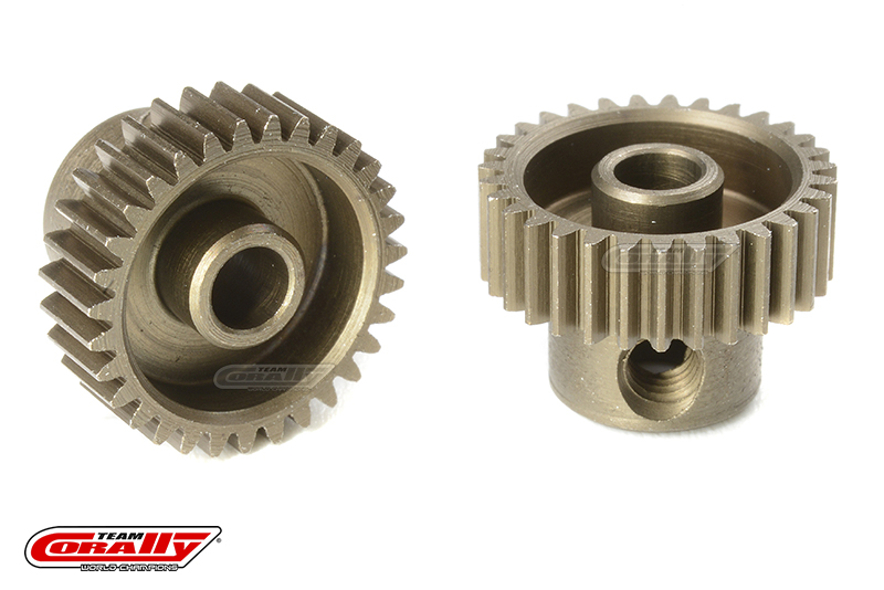 Team Corally - 64 DP Pinion - Short - Hardened Steel - 31 Teeth - Shaft Dia. 3.17mm