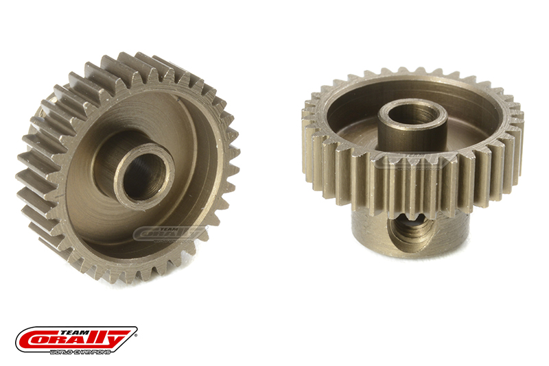 Team Corally - 64 DP Pinion - Short - Hardened Steel - 35 Teeth - Shaft Dia. 3.17mm