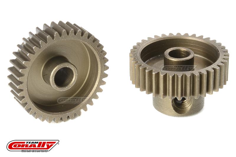 Team Corally - 64 DP Pinion - Short - Hardened Steel - 36 Teeth - Shaft Dia. 3.17mm