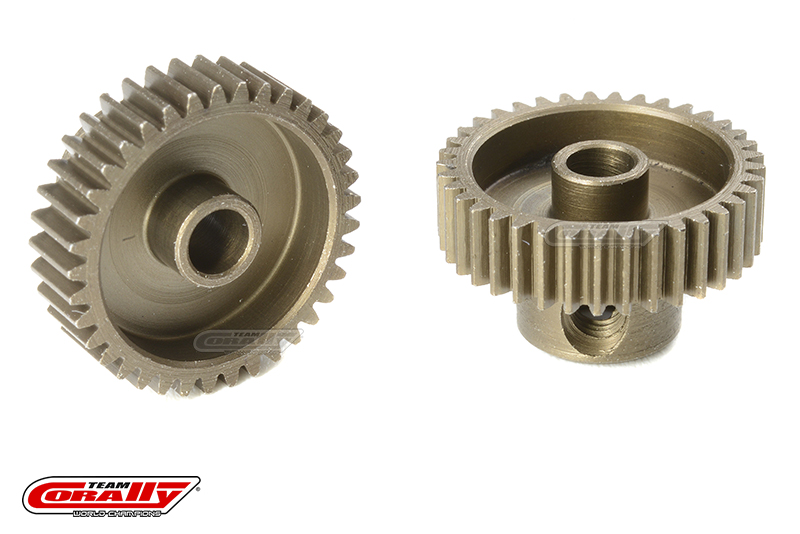 Team Corally - 64 DP Pinion - Short - Hardened Steel - 37 Teeth - Shaft Dia. 3.17mm