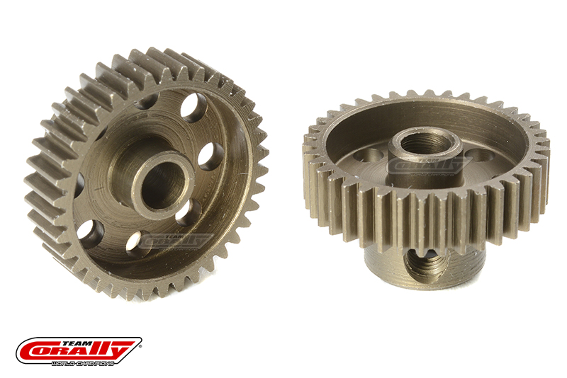 Team Corally - 64 DP Pinion - Short - Hardened Steel - 38 Teeth - Shaft Dia. 3.17mm