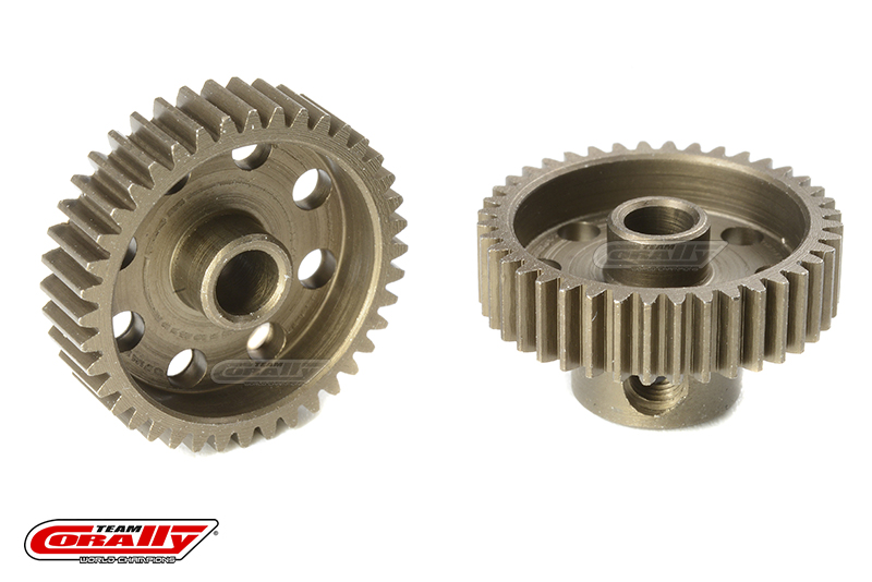 Team Corally - 64 DP Pinion - Short - Hardened Steel - 40 Teeth - Shaft Dia. 3.17mm