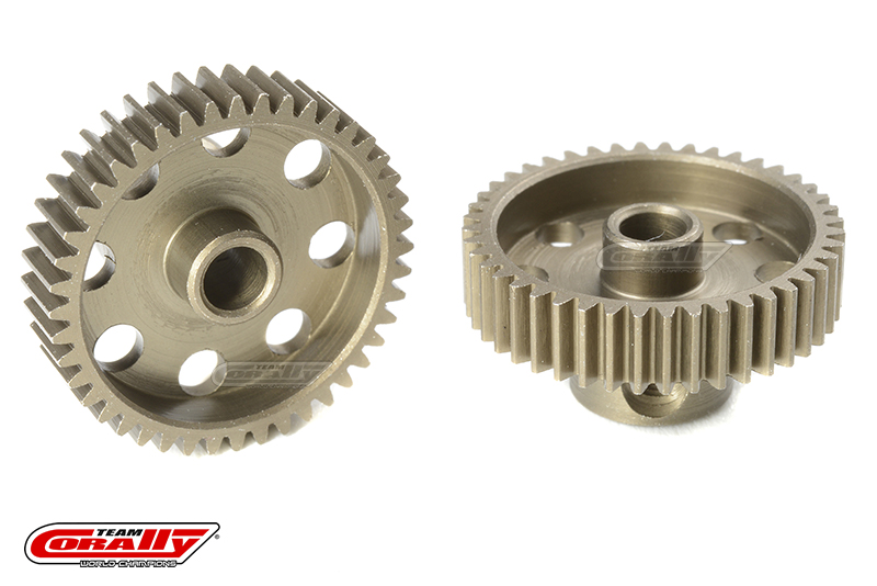 Team Corally - 64 DP Pinion - Short - Hardened Steel - 44 Teeth - Shaft Dia. 3.17mm