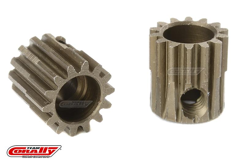 Team Corally - 48 DP Pinion - Short - Hardened Steel - 14 Teeth - Shaft Dia. 3.17mm