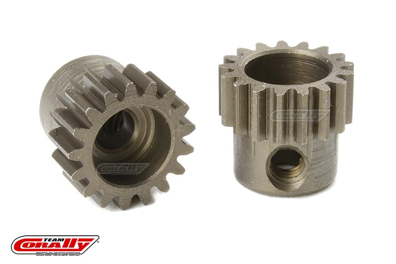 Team Corally - 48 DP Pinion - Short - Hardened Steel - 17 Teeth - Shaft Dia. 3.17mm