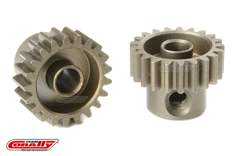 Team Corally - 48 DP Pinion - Short - Hardened Steel - 21 Teeth - Shaft Dia. 3.17mm