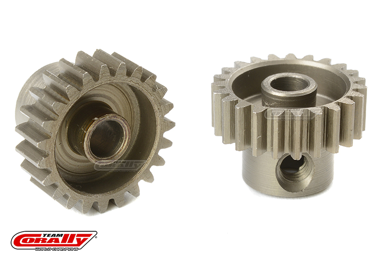 Team Corally - 48 DP Pinion - Short - Hardened Steel - 23 Teeth - Shaft Dia. 3.17mm