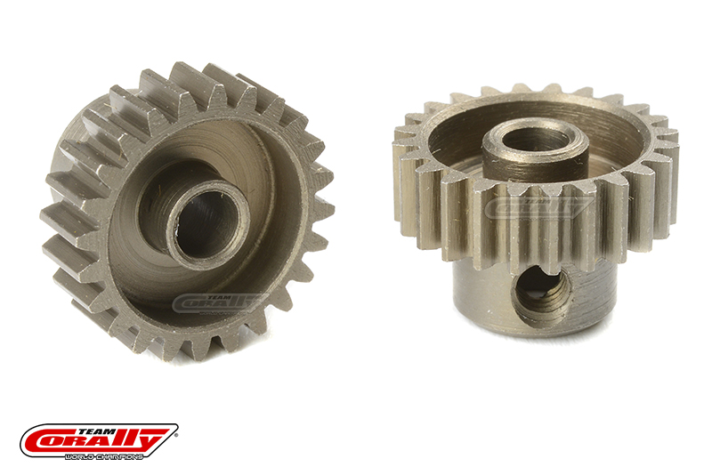 Team Corally - 48 DP Pinion - Short - Hardened Steel - 24 Teeth - Shaft Dia. 3.17mm