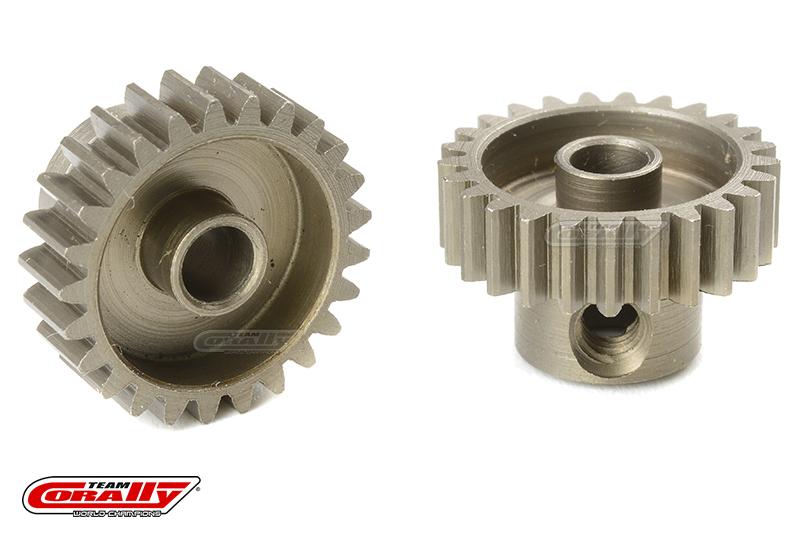 Team Corally - 48 DP Pinion - Short - Hardened Steel - 25 Teeth - Shaft Dia. 3.17mm