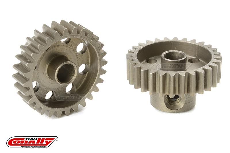 Team Corally - 48 DP Pinion - Short - Hardened Steel - 28 Teeth - Shaft Dia. 3.17mm