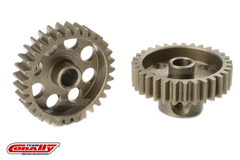 Team Corally - 48 DP Pinion - Short - Hardened Steel - 31 Teeth - Shaft Dia. 3.17mm