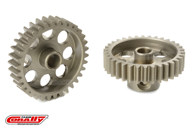 Team Corally - 48 DP Pinion - Short - Hardened Steel - 34 Teeth - Shaft Dia. 3.17mm