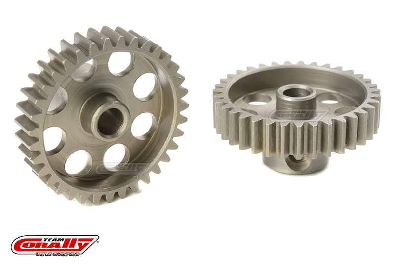 Team Corally - 48 DP Pinion - Short - Hardened Steel - 35 Teeth - Shaft Dia. 3.17mm