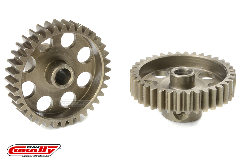 Team Corally - 48 DP Pinion - Short - Hardened Steel - 36 Teeth - Shaft Dia. 3.17mm