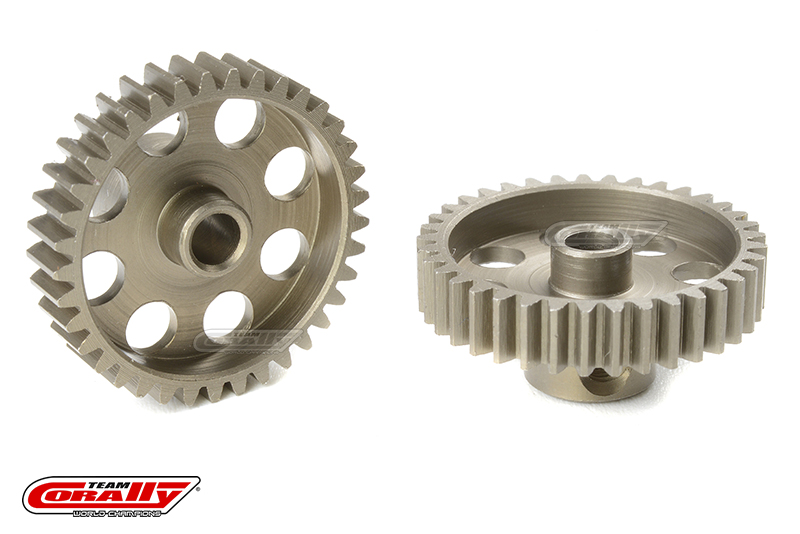 Team Corally - 48 DP Pinion - Short - Hardened Steel - 37 Teeth - Shaft Dia. 3.17mm