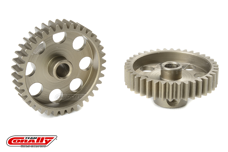 Team Corally - 48 DP Pinion - Short - Hardened Steel - 38 Teeth - Shaft Dia. 3.17mm