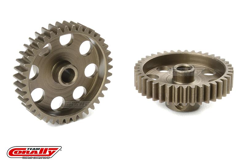 Team Corally - 48 DP Pinion - Short - Hardened Steel - 39 Teeth - Shaft Dia. 3.17mm