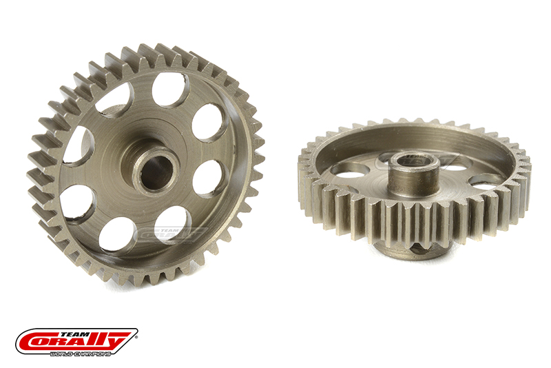 Team Corally - 48 DP Pinion - Short - Hardened Steel - 40 Teeth - Shaft Dia. 3.17mm