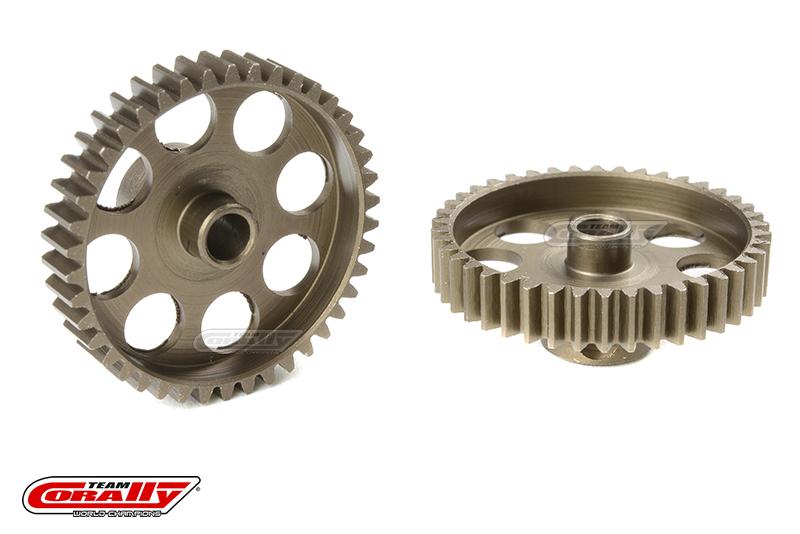 Team Corally - 48 DP Pinion - Short - Hardened Steel - 42 Teeth - Shaft Dia. 3.17mm
