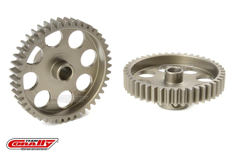 Team Corally - 48 DP Pinion - Short - Hardened Steel - 44 Teeth - Shaft Dia. 3.17mm