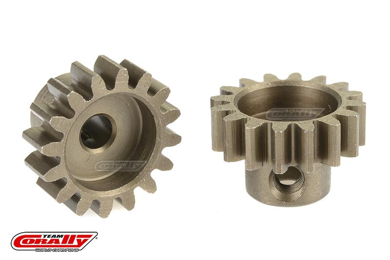 Team Corally - 32 DP Pinion - Short - Hardened Steel - 16 Teeth - Shaft Dia. 3.17mm