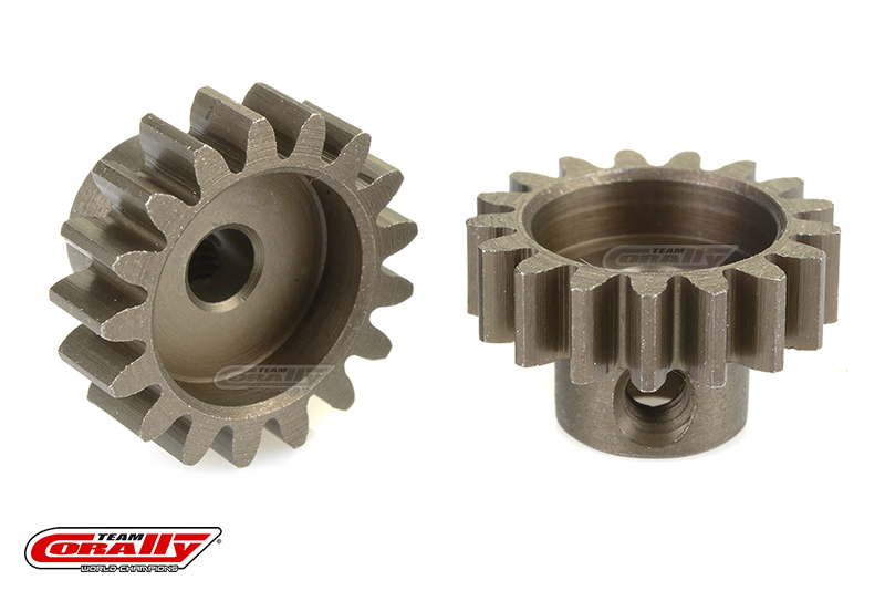 Team Corally - 32 DP Pinion - Short - Hardened Steel - 17 Teeth - Shaft Dia. 3.17mm
